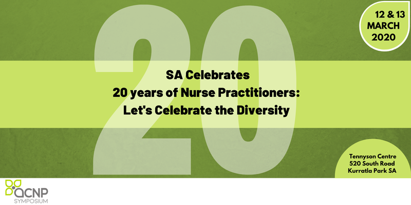 SA Symposium - 20 years of Nurse Practitioners: Let's Celebrate the Diversity