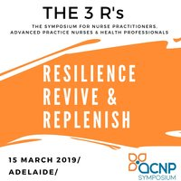 The SA Symposium 'The 3 R's: Resilience, Revive & Replenish' will take place on the 15th March 2019 in Ridleyton.