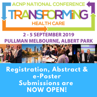 Bringing together Nurse Practitioners, Advanced Practice Nurses and Advanced Health Professionals the ACNP National Conference will take place in Melbourne on the 2nd - 5th September, 2019.